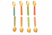 Perfect Stix 110 Polka Dot and Chevron Printed Cutlery, 11cm Spoons, Assorted
