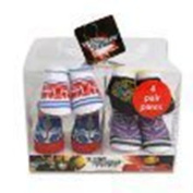 4 Pairs Transformers Baby Socks Baby Booties Gift Box Set Infant Size 0-6 Months