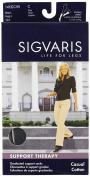 Sigvaris 146C Women's Casual Cotton 15-20mmHg Closed Toe Knee High Sock Size
