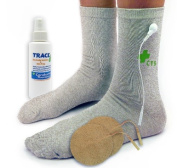 Premium Conductive Socks Package for Pain Treatment & Diabetes, Tarsal Tunnel, Arthritis, Neuropathy Electrotherapy