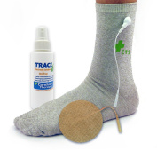 Premium Conductive Sock Package for TENS Pain Treatment, Earthing, and Diabetes, Tarsal Tunnel, Arthritis, Neuropathy Electrotherapy