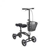 Drive Medical 796 Dual Pad Steerable Knee Walker with Basket, Silver