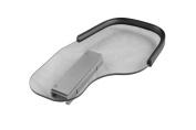 Rehabilitation Advantage 1cm Clear Polycarbonate Wheelchair Half Tray with Rubber Rim - Flip Away Left Side