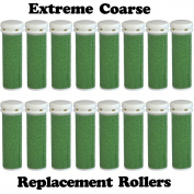 Extreme Coarse Micro Mineral Emjoi Micro-Pedi Compatible Replacement Rollers for Extremely Rough and Tough Calluses