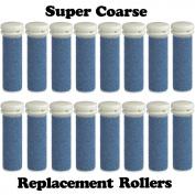 Super Coarse Micro Mineral Emjoi Micro-Pedi Compatible Replacement Rollers for Unisex Tough Calluses