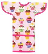 AM PM Kids! Sleeved Toddler Laminated Bib, Cupcakes