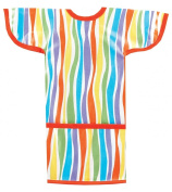 AM PM Kids! Sleeved Toddler Laminated Bib, Stripes