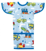 AM PM Kids! Sleeved Toddler Laminated Bib, Planes, Trains, Autos