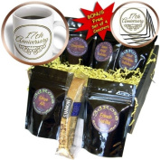 cgb_154459_1 InspirationzStore Occasions - 17th Anniversary gift - gold text for celebrating wedding anniversaries - 17 years married together - Coffee Gift Baskets - Coffee Gift Basket