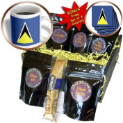 cgb_31583_1 Flags - St Lucia Flag - Coffee Gift Baskets - Coffee Gift Basket