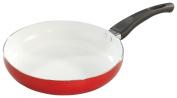 WalterDrake 20cm dia. Red Ceramic Frying Pan