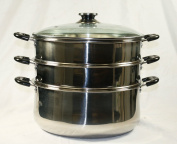 30 CM Stainless Steel 3 Tier Steamer Pot Steaming Cookware