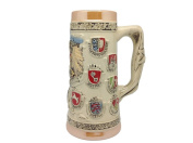 German Coat of Arms Collectible Engraved Beer Stein