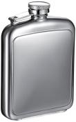 "Visol ""Vitak"" Polished and Brushed Metal Hip Flask, 240ml, Chrome"