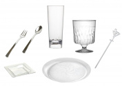 Fineline Settings 204 pc Cocktail Party Kit, Service for 10