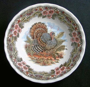 Queen's Myott by Churchill Thanksgiving Turkey 15cm Cereal Soup Bowls, Set of 4