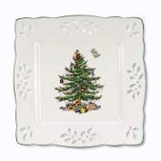 Spode Christmas Tree Pierced Square Tray