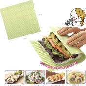 Japanese Plastic Nonstick Surface Sushi Mat Roll Mat (Makisu) 25cm x 25cm
