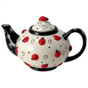 Ladybug With Swirls Teapot For Kitchen Decor And Teas