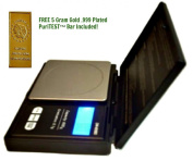 Electronic 600g/0.1g Gold Weigh Diamond Gn Gramme Jewellery Troy Ounce Oz Scale Ct + Mini .999 Fine Silver Bullion Bar