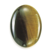 Oval 30 x 22 mm Tiger's Eye Cabochon Stone pack of 2 Jewellery Making Findings