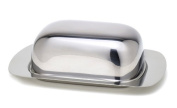 StainlessLUX 75111 Stainless Steel Covered Butter Dish, 7.25 by 12cm by 5.7cm , Brilliant Finish