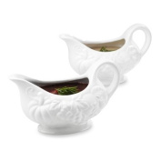 "Tabletops Gallery ""Harvest"" Two Piece Gravy Boat"