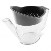 Large 4-Cup Grey Fat Separator, Perforated Lid Gravy Strainer, 400° F Heat-Resistant