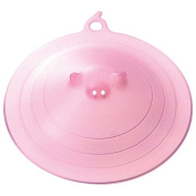 Marna Pink Piggy Microwave Plate Cover, 23cm