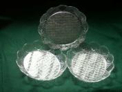 6 Clear Acrylic Salad Plates Dishes Bowls 6 X 5.5 Outside Dimension 4 X 11cm X 2.5cm Inside