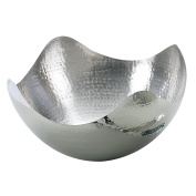 Elegance Hammered 25cm Stainless Steel Wave Serving Bowl