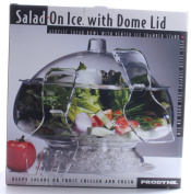 Prodyne AB-3-D Salad On Ice with Dome Lid - Acrylic Salad Bowl and Servers