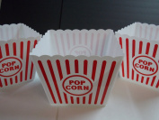 Plastic Popcorn Tub - 22cm Square, 3 Pack by Greenbrier