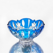 Case Crystal Blue Candy Dish