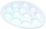 BIA Cordon Bleu Porcelain Egg Plate, White