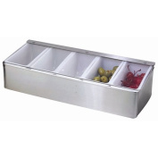 Stainless Steel 5-Compartment Condiment Caddy