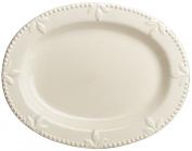 Signature Housewares Sorrento Collection 36cm Oval Serving Platter, Ivory Antiqued Finish