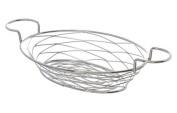American Metalcraft BNBC281 Oval Birdnest Wire Basket with Ramekin Holder, Chrome
