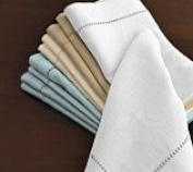 Hemstitch Dinner Napkins White 1 Dozen