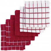 """Ritz 100% Terry Cotton, Highly Absorbent Dish Cloth Set, 12"""" x 12"""", 6-Pack, Paprika Red"""