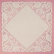 Lace 30cm White Square Doilies - Household Supplies - 50 each by Paper Mart