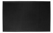 New Star Foodservice Rubber Bar Service Mat, 30cm by 46cm , Black