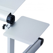 FURINNO MP01 Mousepad Attachable to Aluminium Folding Laptop Notebook Tray Stand, Silver