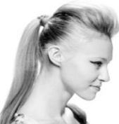 PONY TAIL (SWITCH) HAIR EXTENSION, WRAP AROUND TAIL HIDES GRIP IN OUR FAMOUS MEDIUM GREY MIX