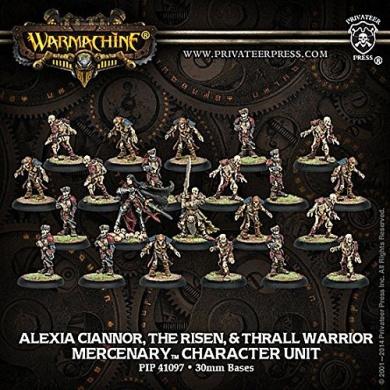 Warmachine - Mercenary - Alexia Ciannor, The Risen & Thrall Warrior - Unit of 22