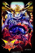 (50)3 Gods Yugioh Arcv Card Sleeves Deck Protectors