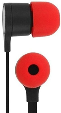 HTC HTC RC E295 3.5mm Stereo Headset - Black and Red Original OEM 39H00014-00M - Wired Headsets - Non-Retail Packaging - Black/Red