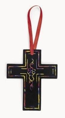 Magic Colour Scratch Cross Ornaments - Religious Crafts & Art & Craft Supplies