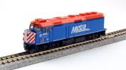"Kato USA Model Train Products EMD F40PH #163 Chicago Metra ""City of Elmhurst"" N Scale Train"