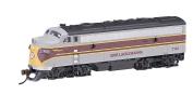 Bachmann Industries EMD F7-A Diesel Locomotive DCC Equipped Erie Lackawanna Train Car, Grey/Maroon, N Scale